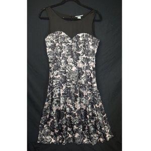 H&M Black and White Sleeveless Dress 8